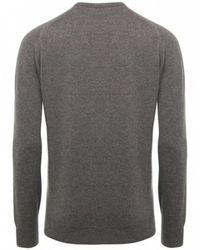 Jules B - Brown V-neck Lambswool Sweater for Men - Lyst