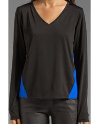 Sjobeck - Blue Latigo Tee in Black - Lyst