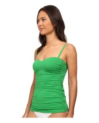 Tommy Bahama - Green Pearl Over The Shoulder Long Tankini Top - Lyst