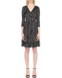Diane von Furstenberg | Multicolor Caprice Silk And Jersey Wrap Dress | Lyst