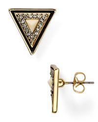 House of Harlow 1960 - Metallic 1960 Teepee Triangle Stud Earrings - Lyst