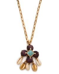 Tory Burch Brown Luca Pendant Necklace
