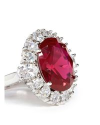 CZ by Kenneth Jay Lane - Red Oval Cut Cubic Zirconia Ring - Lyst