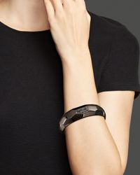 Roberto Coin - Ruthenium Plated Sterling Silver Cuff With Black Topaz - Lyst