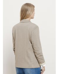Violeta by Mango - Natural Essential Structured Blazer - Lyst
