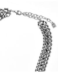 DANNIJO | Metallic Silver Chain Link Statement Necklace | Lyst