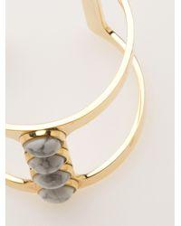 Lizzie Fortunato - Metallic Pebble Tbar Cuff - Lyst