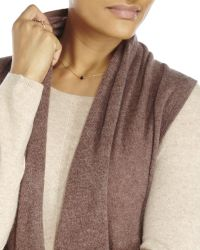 In Cashmere - Brown Petite Shawl Collar Knit Vest - Lyst