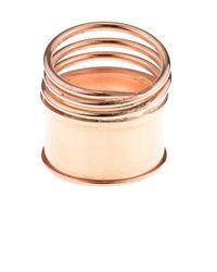Aamaya By Priyanka | Pink Rose Gold-Plated Spring Multi Ring | Lyst