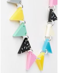 Tatty Devine - Multicolor Atomic Bunting Necklace - Lyst