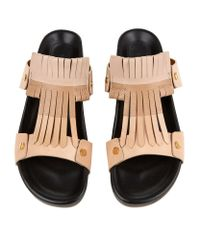 Chloé | Natural Cherry Blossom Leather Sandal | Lyst