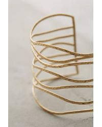 Anthropologie | Metallic Clustered Crest Cuff | Lyst