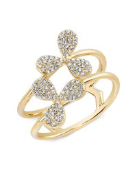 Anne Sisteron - Metallic 14kt Yellow Gold Diamond Daisy Ring - Lyst