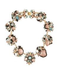 Erickson Beamon - Metallic Girls On Film Goldplated Swarovski Crystal Necklace - Lyst