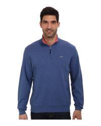 Vineyard Vines | Blue 1/4 Zip Tiller Heather Sweater for Men | Lyst