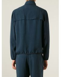 Giorgio Armani | Blue Zip Front Jacket for Men | Lyst