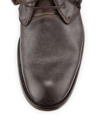 John Varvatos - Brown Freeman Raw-Edge Chukka Boot for Men - Lyst