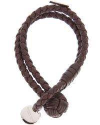 Bottega Veneta   Brown Intrecciato Leather Bracelet   Lyst