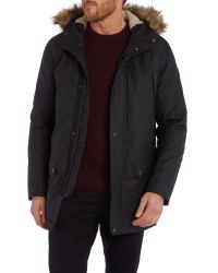 Duck and Cover - Black Enforce Down Filled Arctic Parka Coat for Men - Lyst