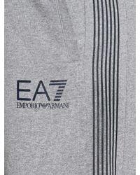 Emporio Armani - Gray Light Cotton Fleece Shorts for Men - Lyst