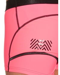 Monreal London - Pink Booty Boost Layered Performance Shorts - Lyst