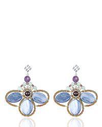 Ziio | Blue Bee Kyanite Earrings | Lyst