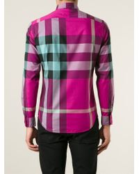 0e38be96aafb Lyst - Burberry Brit  Nova Check  Shirt in Pink for Men