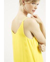 TOPSHOP - Yellow Tall High Apex Slip Dress - Lyst