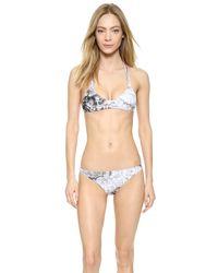Mikoh Swimwear | Multicolor Uluwatu Bikini Top - Whitewater Night | Lyst