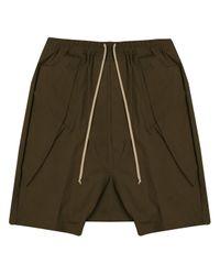 Rick Owens | Pantaloni Anthem Cargo Cropped Pant Black | Lyst