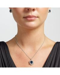 John Lewis - Blue Sterling Silver Cushion Necklace And Earrings Set - Lyst