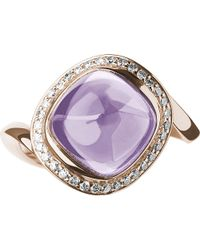 Links of London | Purple Infinite Love Pink Amethyst 18ct Rose Gold Ring | Lyst