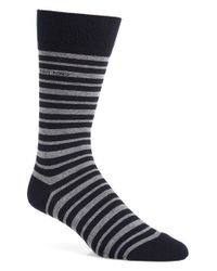 BOSS - Gray 'marc' Stripe Socks for Men - Lyst
