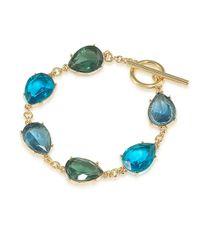 Carolee | Blue Central Park Boathouse Crystal Drop Toggle Bracelet | Lyst