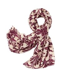 Tory Burch - Red Symphony Print Scarf - Lyst