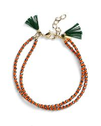 Shashi | 'barbara' Clasp Bracelet - Pyrite/ Orange | Lyst