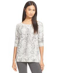 Soft Joie | Gray 'darilynn B' Print Raglan Sleeve Sweatshirt | Lyst