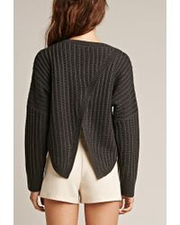 Forever 21 - Gray Tiger Mist Take Me Over Crossover Back Sweater - Lyst