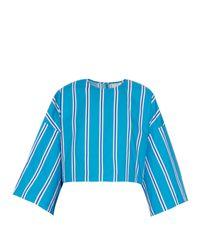 Stella Jean | Blue Criminologo Striped Cotton Top | Lyst