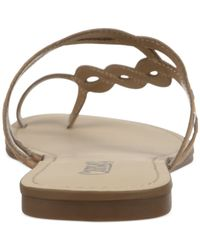 Carlos By Carlos Santana | Brown Selena Flat Toe Ring Sandals | Lyst