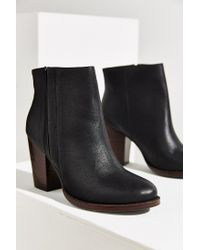 Silence + Noise - Black Half-stacked Heeled Ankle Boot - Lyst