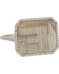 Monique Péan - Diamond, Fossilized Woolly Mammoth & White Gold Ring - Lyst