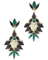 Anton Heunis | Metallic Gold Plated Swarovski Crystal Drop Earrings | Lyst