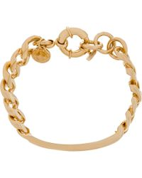 Marc By Marc Jacobs | Metallic Gold Toggles And Turnlocks Standard Supply I.D. Bracelet | Lyst