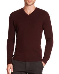 Vince | Purple Cashmere V-neck Sweater for Men | Lyst
