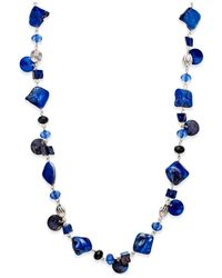 Style & Co. | Silver-tone Blue Jet Shell Long Necklace | Lyst