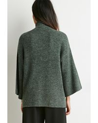 Forever 21 - Green Contemporary Mock Neck Oversized Sweater - Lyst