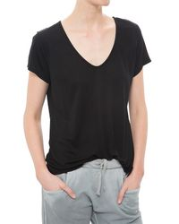 The Lady & The Sailor | Black V-neck Tee | Lyst
