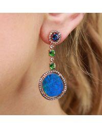 Wendy Yue - Blue Opal Drop Earrings - Lyst
