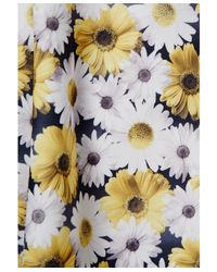 d70462c2a1 Missguided Arisa Yellow Skater Dress In Daisy Print in Yellow - Lyst